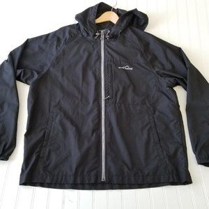 Eddie Bauer Mens Lrg Black Wind Breaker Jacket